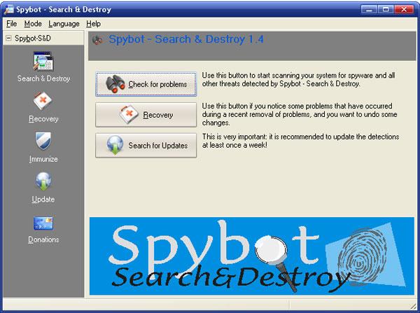 Destroy end search sex spybot