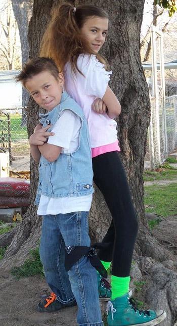 Johnny & his big sister Brandy